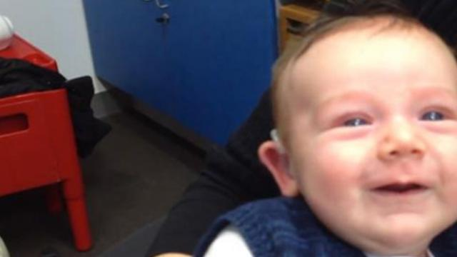 Watch a miracle happen as this baby boy hears his mother's voice for the first time