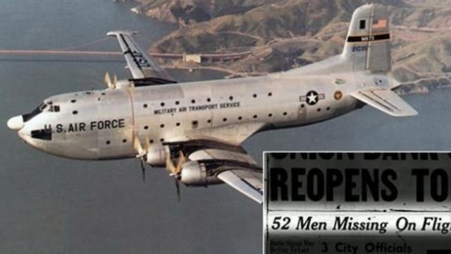 Military plane uncovered in alaska 60 years after all 52 aboard reported missing