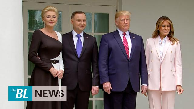 President Trump welcomes Polish leader to White House