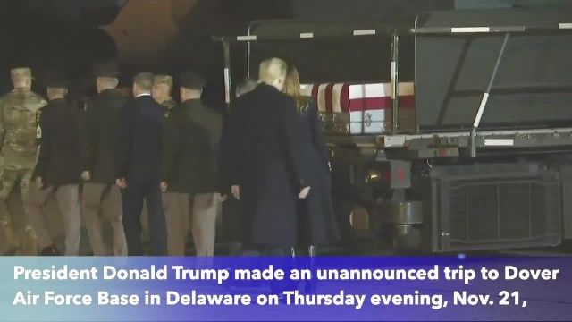 Trump makes unannounced trip to Delaware to honor soldiers killed in Afghanistan helicopter crash