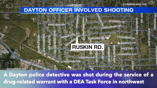 Dayton detective shot critically injured during DEA raid