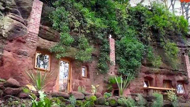 He starts out with a 700-year-old cave and transforms it into