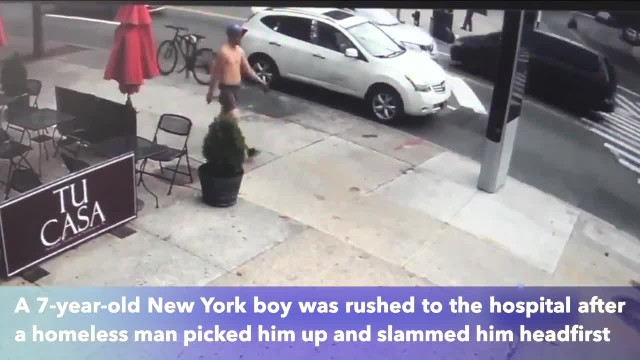 7-year-old boy slammed to ground by homeless man in Queens, suffers serious head injury