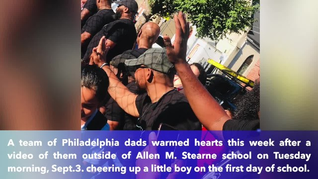 Group of Philadelphia dads stepped in to comfort nervous student on first day of school