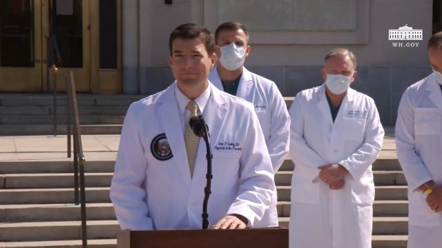 Dr. Sean Conley, physician to the President, provides an update on President Trump