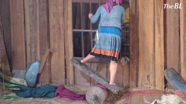 Traditional Way of Making Textile in a minority village