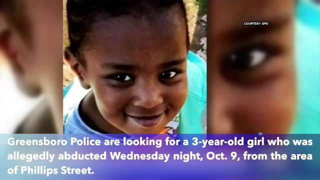 3-year-old girl abducted in north Carolina