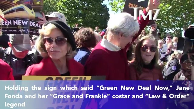 Jane Fonda proves she's true to her word- gets arrested again in DC during climate change protest
