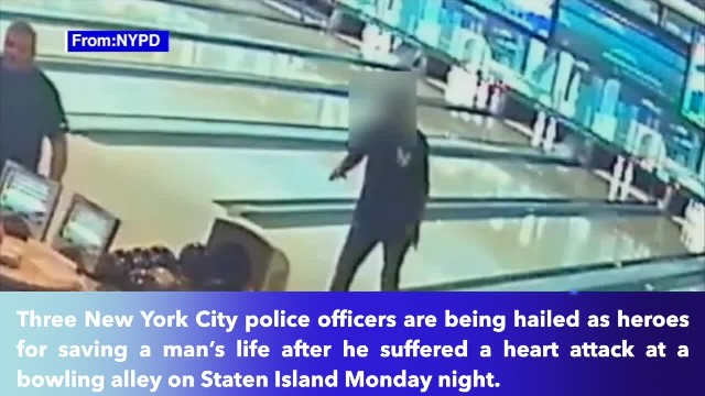 3 off-duty NYPD officers save man's life at bowling alley, go on to win match