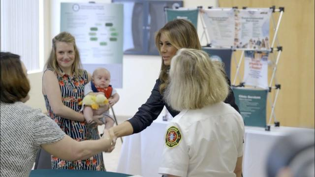 First Lady Melania Trump Visits Huntington, West Virginia