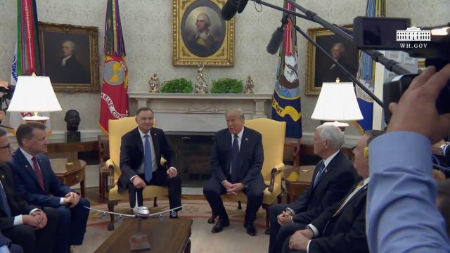 President Trump participates in a bilateral meeting with the President of the republic of Poland