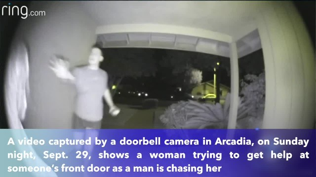 Doorbell camera video shows woman being assaulted by estranged boyfriend in California