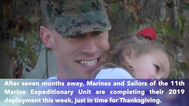 Marines return from deployment just in time for Thanksgiving