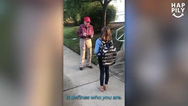 Little girl admits she's been talking to a man before school. Mom is stunned after meeting him