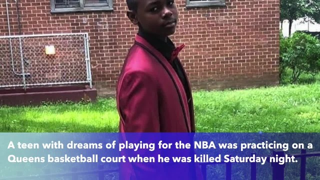 Innocent teen killed on Queens basketball court by stray bullet in Queens