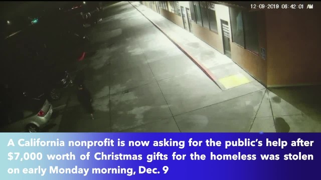 Nonprofit asking for help after $7,000 worth Christmas gifts for homeless stolen