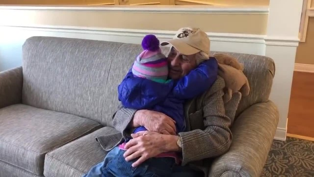3-yr-old meets 95-yr-old in assisted living making headlines when unusual relationship develops mom