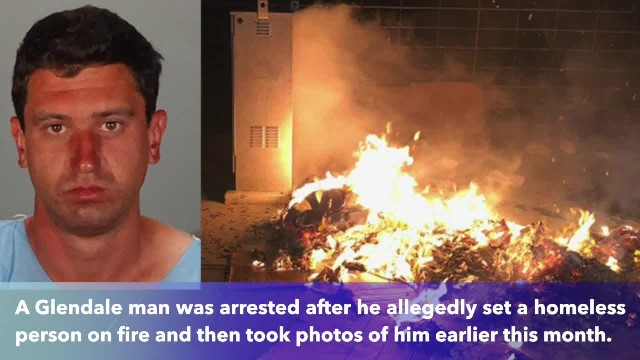 Thirty-year-old California man allegedly tried to set homeless man on fire