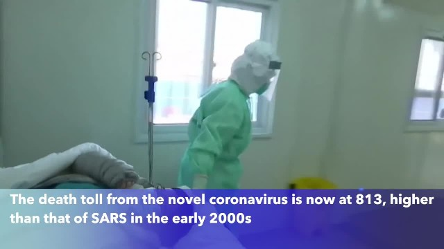 Coronavirus deaths surpass SARS fatalities; at least 811 have died