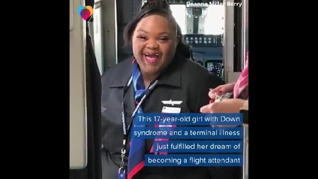 Terminally ill teen with Down syndrome becomes 1st special needs flight attendant for AA