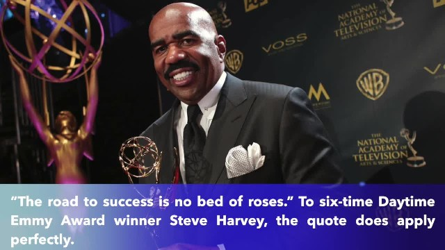 Comedian Steve Harvey thanks God for making him successful despite having no education