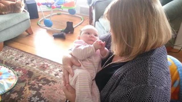 Grandma sings to baby girl. In seconds, baby's response has mom running for the camera