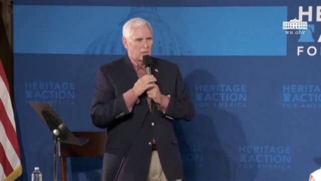 Vice President Pence participates in a support law enforcement town hall