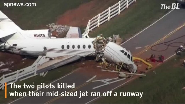 The mid-sized jet that tried to land at a South Carolina airport and ran off