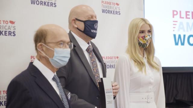 Ivanka Trump presents pledge to America's workers awards