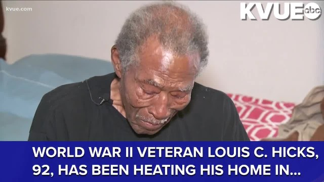 Austin PD delivers free heater to 92-year-old World War II vet using stove for heating