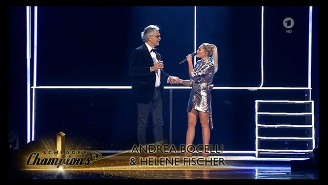 Beautiful woman walks toward Andrea Bocelli with duet so alluring everyone left breathless