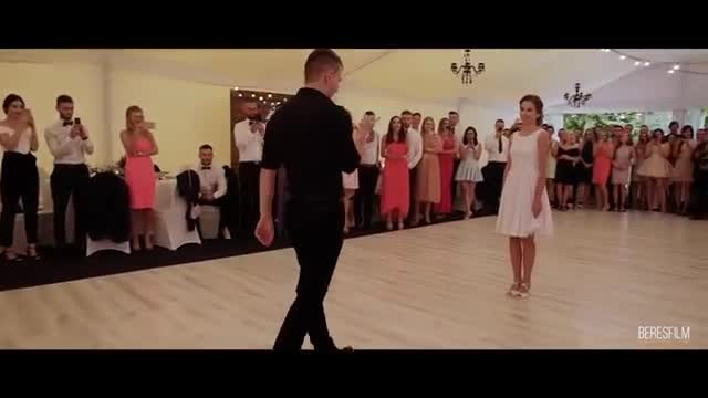 Handsome Groom Kisses Bride's Hand Then Unleashes Dance Moves Guests Will Never Forget