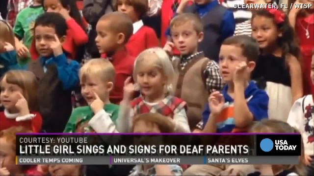 5-yr-old girl starts singing Xmas song at holiday concert – leaves everyone stunned when she moves h