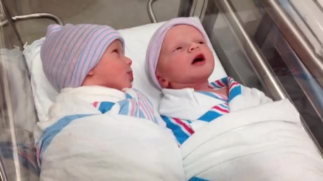 Newborn Twins Have Their First Conversation In The Hospital Baby Cot - Rumble