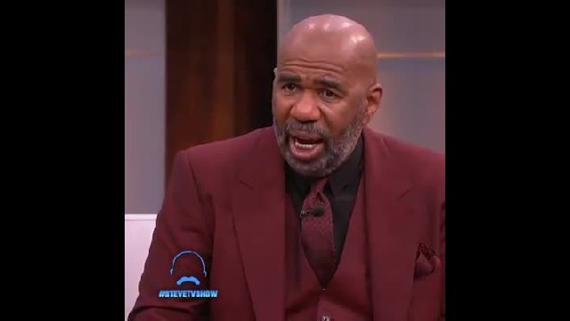 Religious lunch lady asked on Steve Harvey show sobs when he calls her out on stage before crowd