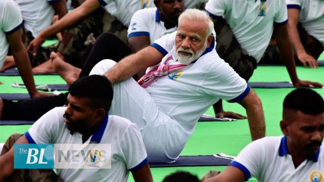 Indian PM Modi celebrates International Yoga Day