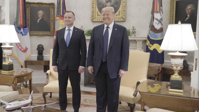 President Trump welcomes the President of Poland to the White House