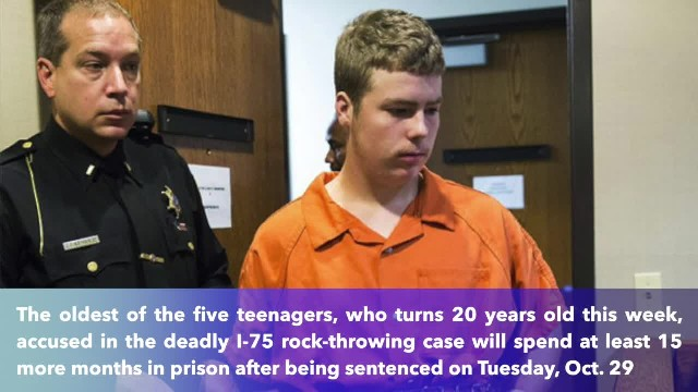Michigan teen who threw rock off highway overpass, killing man, gets 39 months to 20 years behind ba