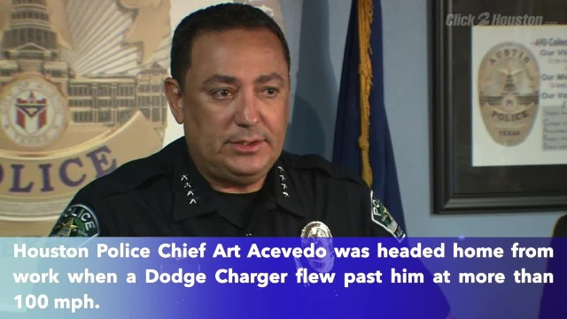 Houston police chief pulls over street racer at 100+ mph while driving home