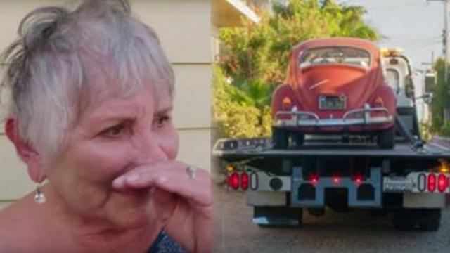 Volkswagon shocks 3-time breast cancer survivor by giving beloved car makeover