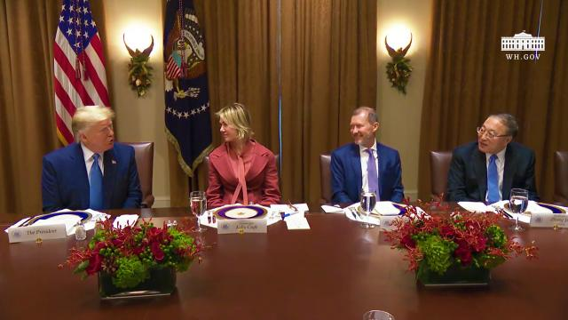 President Trump Participates in a Luncheon
