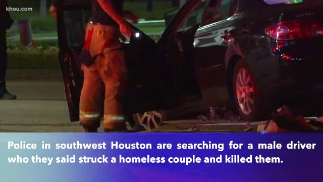 Homeless couple sleeping under bridge killed by hit-and-run driver in southwest Houston
