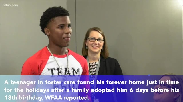 Teenager in foster care finds forever home 6 days before he turned 18