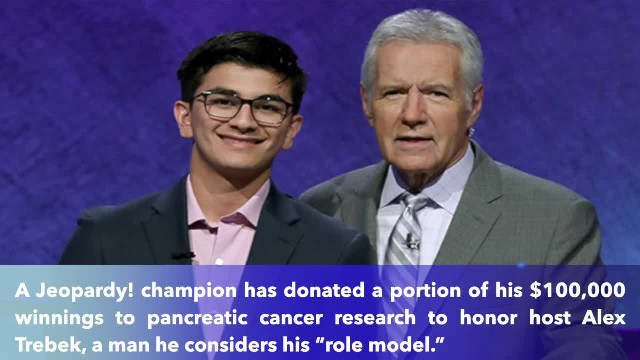 Teenage 'Jeopardy' champ donates $10,000 to cancer institute in honor of Alex Trebek