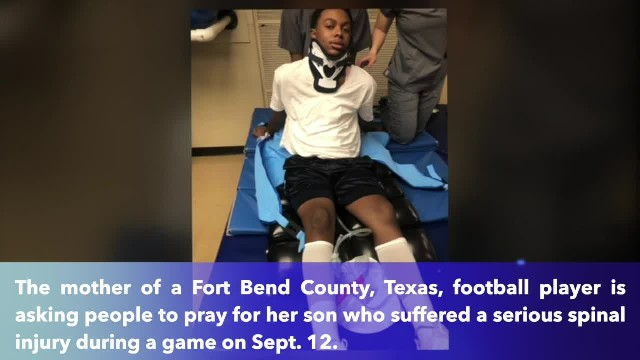 Mother begs for prayers after tackle has 15-year-old football player paralyzed