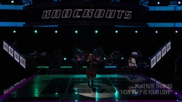 Kelly Bugs Out for MaKenzie Thomas'  How Deep Is Your Love  Cover - The Voice 2018 Knockouts