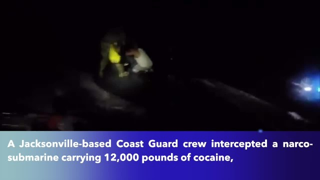 Coast guard crew discovers $165 million in cocaine in submarine