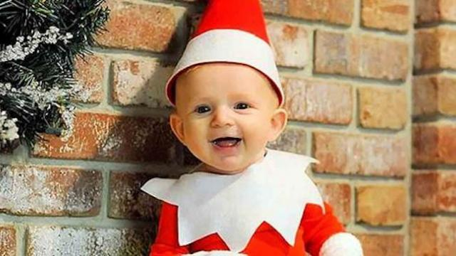 Daddy turns his baby into 'Elf on The Shelf.' Wait until you see their antics!