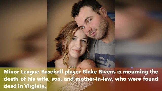 Baseball player Blake Bivens says his heart had 'turned to ash' after the killing of his wife, son,