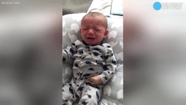 Baby Won't Stop Crying After Mom Leaves House. But Watch When Dad Gently Holds Up Her Shirt